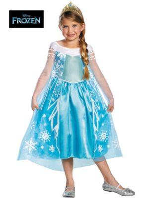 Kids Disney Frozen Elsa Deluxe Costume