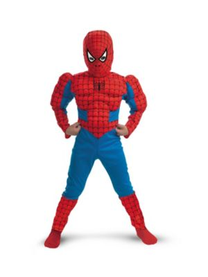 Spider Man Muscle Torso Costume for Child
