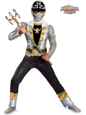 Child Special Ranger Silver Super Mega Classic Muscle  Costume
