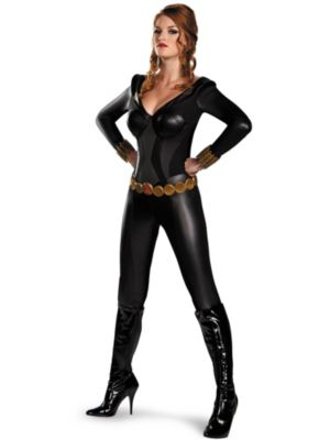 Sexy Adult Black Widow Bustier Costume