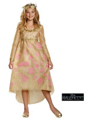 Maleficent Child Aurora Coronation Gown Deluxe Costume