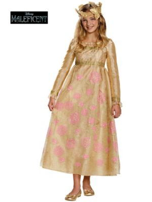 Maleficent Child Aurora Coronation Gown Prestige Costume