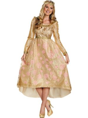 Aurora Coronation Gown Deluxe Adult Costume