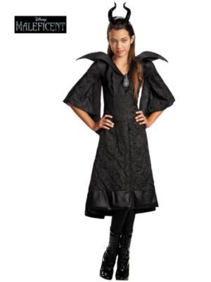Child Maleficent Christening Black Gown Classic Costume