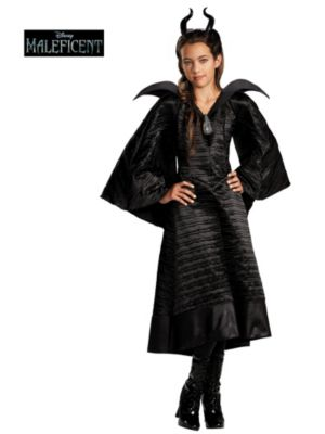 Child Maleficent Christening Black Gown Deluxe Costume