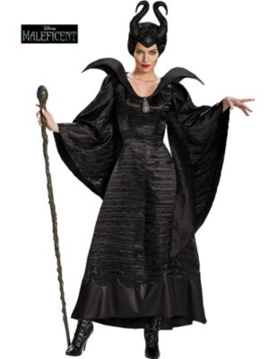 Maleficent Christening Black Gown Deluxe Adult Costume