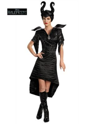 Maleficent Christening Black Gown Glam Deluxe Adult Costume