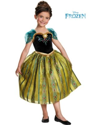 Child Anna Coronation Gown Deluxe Costume from Disney Frozen