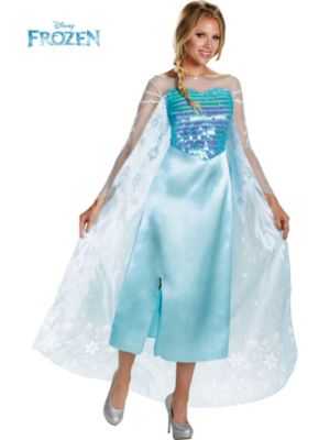Adult Disney Frozen Elsa Deluxe Costume