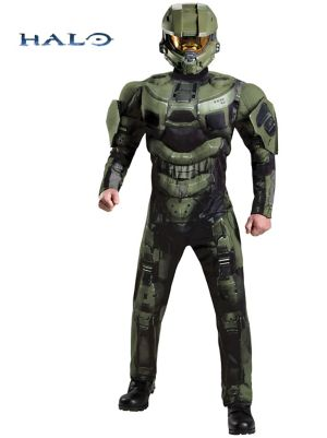 Adult Halo Master Chief Deluxe Muscle Costume