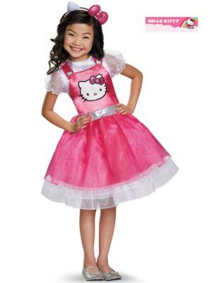 GIRLS HELLO KITTY PINK DELUXE COSTUME