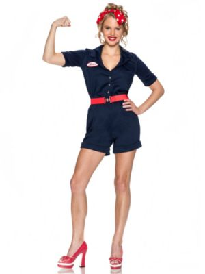 Sexy Adult Riveting Rosie Costume