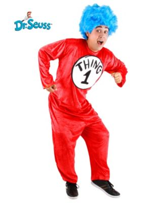 Adult Dr. Seuss Thing 1/2 Costume SM