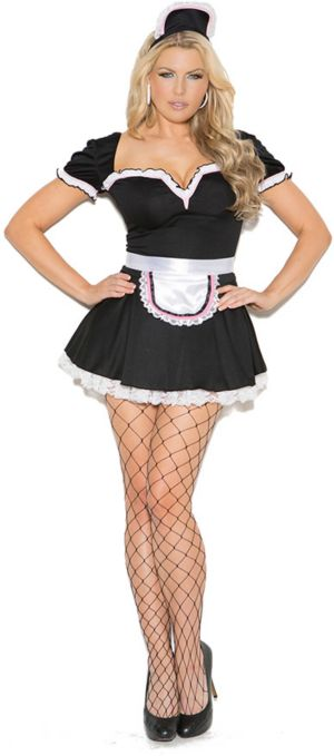 Sexy Adult Maid to Please Plus Costume