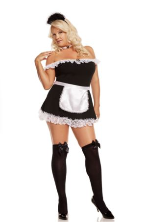 Adult Plus Sexy Maid Costume