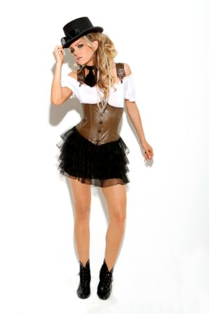 Adult Sexy Racy Steampunk Rose Costume