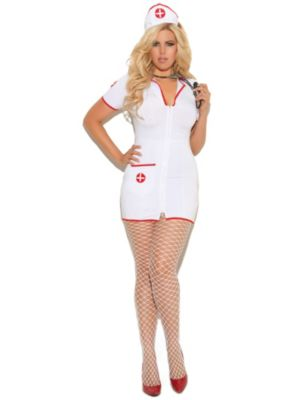 Sexy Adult Head Nurse Plus Size Costume