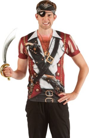 Adult Faux Real Pirate Shirt Costume