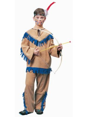 Child Tan and Blue Indian Boy Costume
