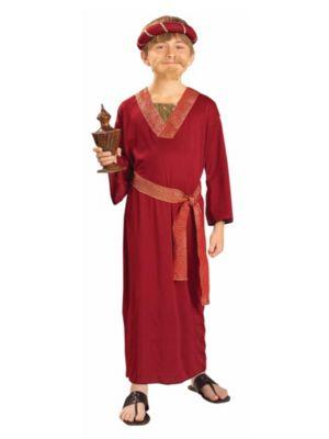 Kids Wiseman Costume In Burgundy