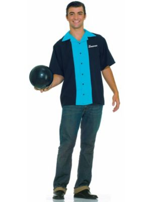 Mens Bowling Shirt Costume