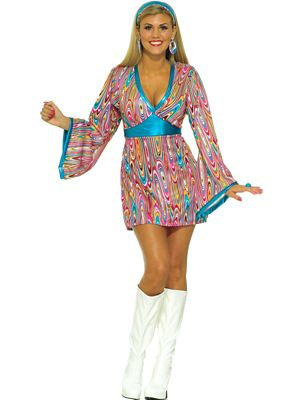 Adult Wild Swirl Dress Costume