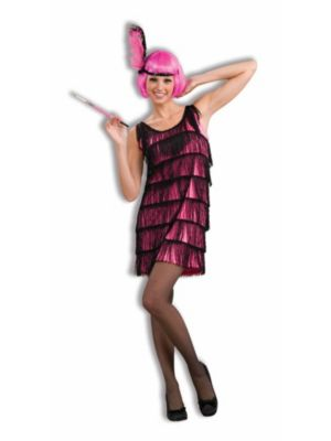 Jazzy Flapper Womens Hot Pink Costume