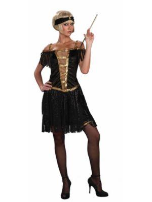 Golden Glamour Women's Flapper Costume