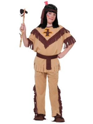Child Tan and Brown Indian Boy Costume