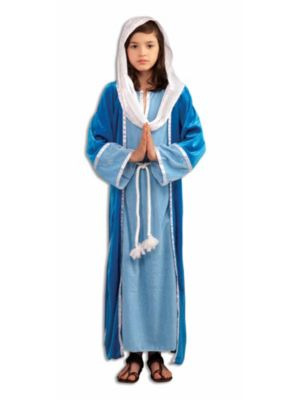 Girl's Deluxe Blue Mary Costume