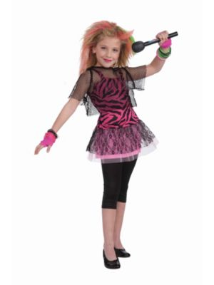 Child 80s Punk Rock Star Girl Costume