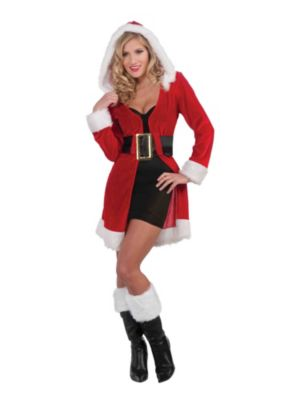 Adult Sexy Enchanted Miss Christmas Short Coat Costume