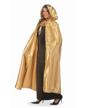 Adult Masquerade Gold Cape