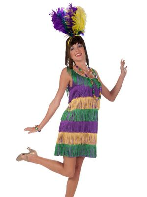 Mardi Gras Frisky Flapper Sexy Costume