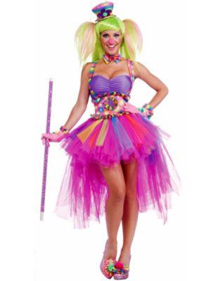 Adult Sexy Tutu Lulu the Clown Costume