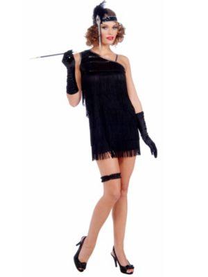 Adult Sexy Black Diamond Dazzle Flapper Costume