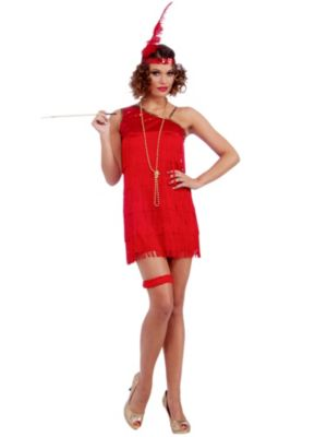 Adult Sexy Ruby Red Dazzle Flapper Costume