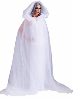 Adult Haunted Hooded Cape and Dress Costume