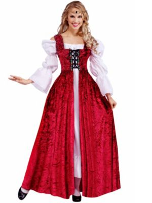 Adult Medieval Lady Lace Up Over Gown Plus Costume