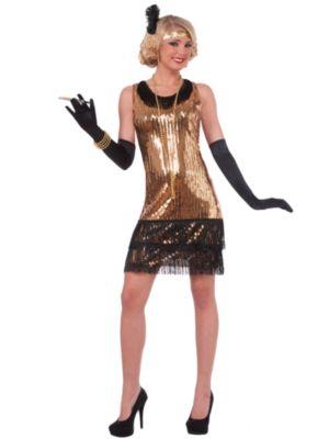 Adult Sequin Ritzy Glitzy Flapper Costume