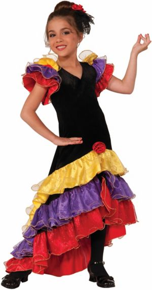 CHILD FLAMENCO DANCER COSTUME