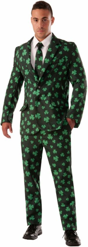 Adult Shamrock Suit and Tie Costume