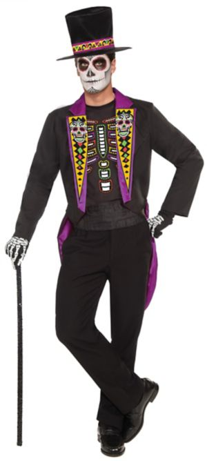 Adult Day of the Dead Formal Costume