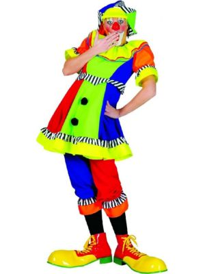 Spanky Stripes Womens Clown Costume