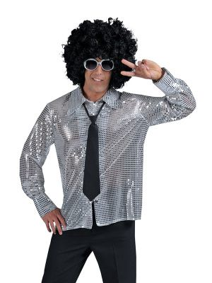 Silver Stardust Mens Disco Shirt