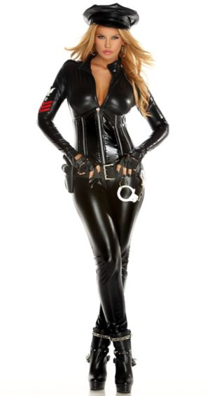 Sexy Adult Classified Catsuit Costume