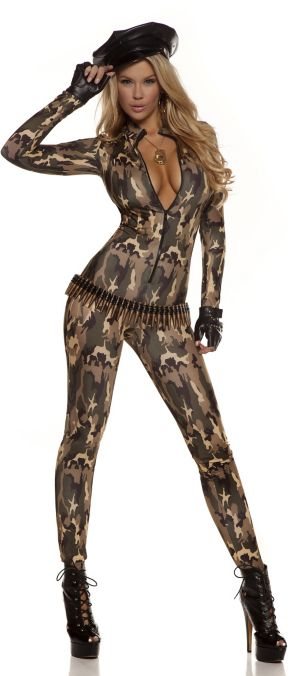 Sexy Adult Charming Cadet Catsuit Costume