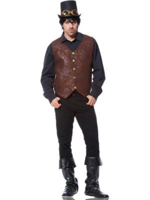 Adult Brown Distressed Vest