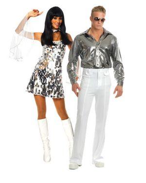 60s Dazzle Womens Sexy Couples Costume