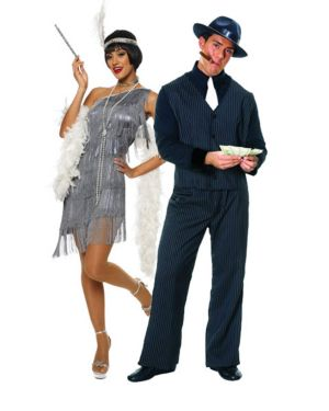 Dazzling Flapper Sexy Adult Couples Costume